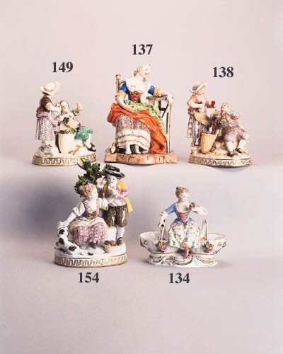 A Meissen group of children