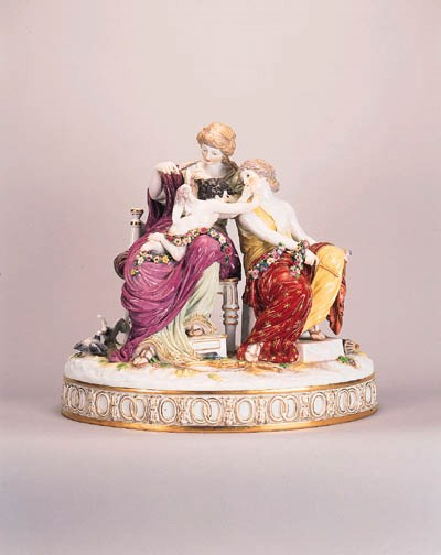 A Meissen group of Cupid Punis