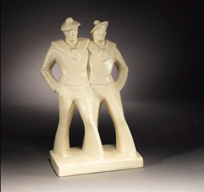 A Dax pottery figure group