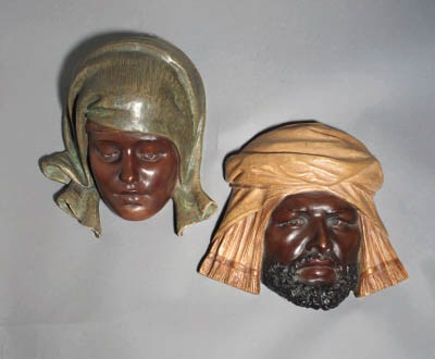A pair of Goldscheider pottery