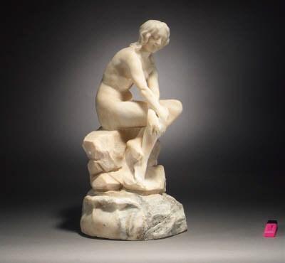 An alabaster figure