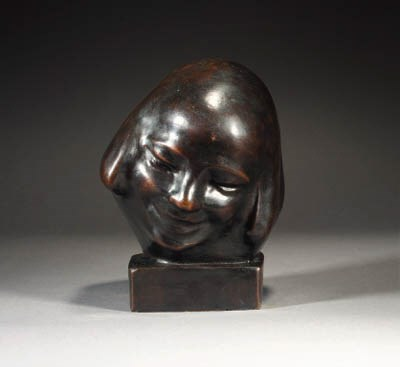 A patinated bronze bust