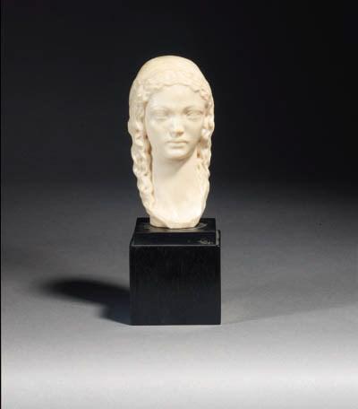 An ivory bust