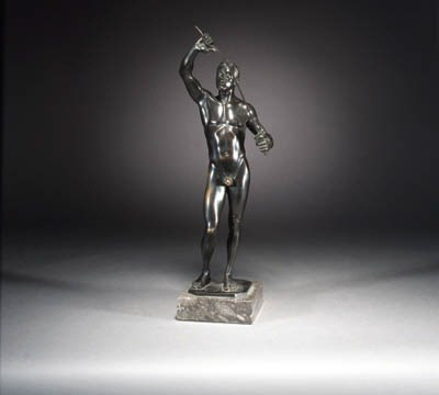 A black patinated bronze figur