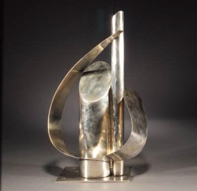 A Hagenauer silvered metal fig