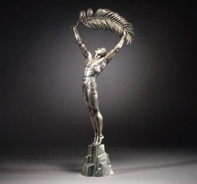 A silvered bronze figure