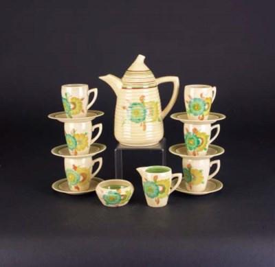 'Sundew' a Lynton coffee set f