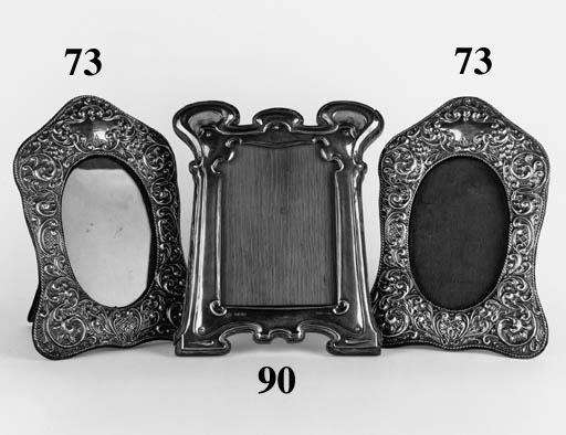 An Art Nouveau silver and enam