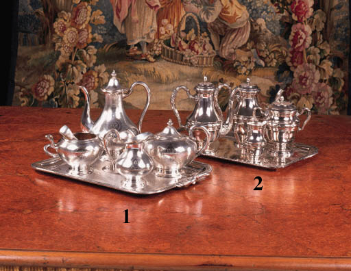 A French silver-plated four pi