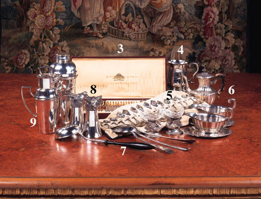 A quantity of silver and plate