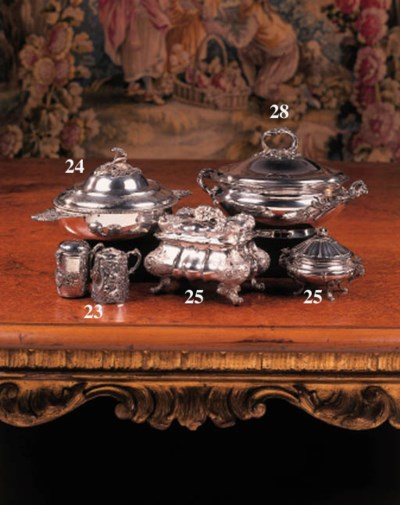 A French silver cuelle and cov