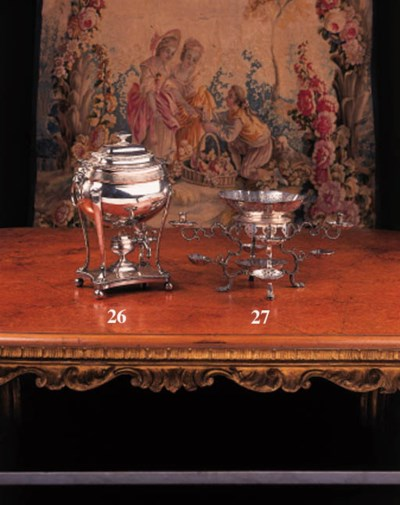 A plated brass pergne or centr