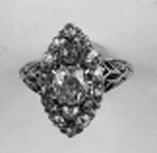 A Victorian diamond ring,