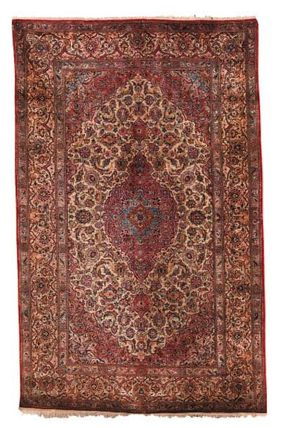 A fine silk Kashan rug, Centra