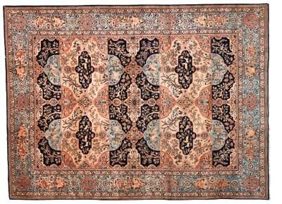 A fine Nain carpet of Garden d