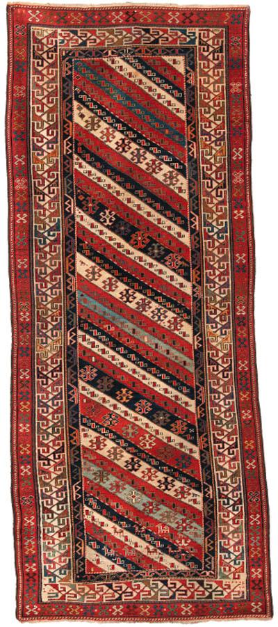 An antique Genje long rug, Sou