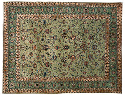 A fine Kashan carpet, West Per