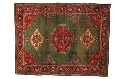A fine Turkey carpet of Ushak