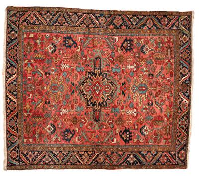 An antique Heriz carpet, North