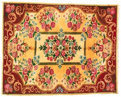 A fine Romanian carpet of Euro