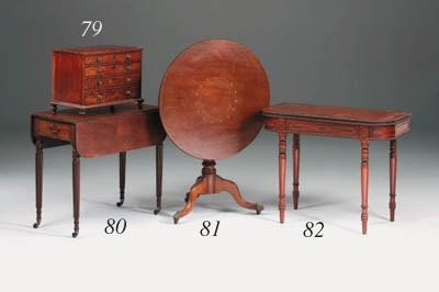 A miniature mahogany and ebony