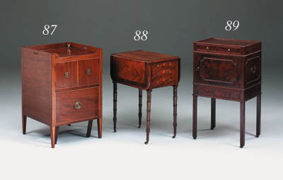 A mahogany and inlaid drop-flap work table, early 19th century