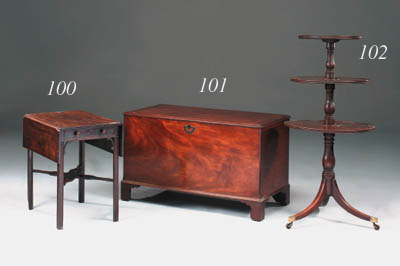 A Regency mahogany triple tier