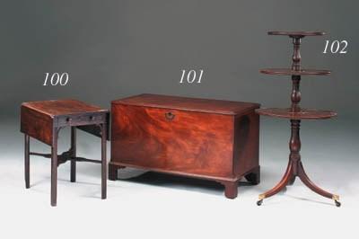 A Regency mahogany triple tier