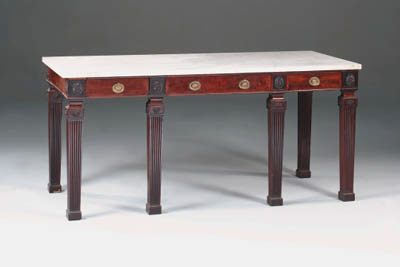 A mahogany side table, 19th ce