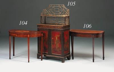 A George III mahogany, inlaid
