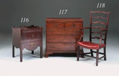 A rare George III mahogany mas