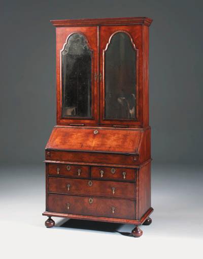 A walnut bureau cabinet, 20th