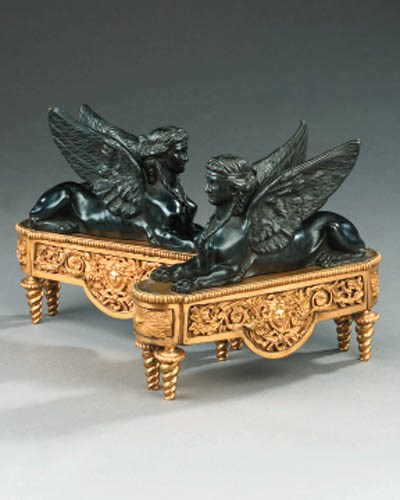 A pair of Louis XVI style gilt