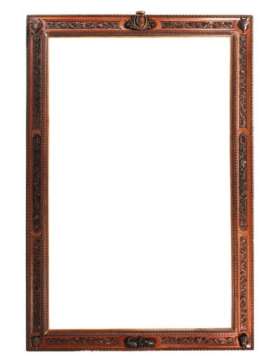 A large carved frame, Italian,