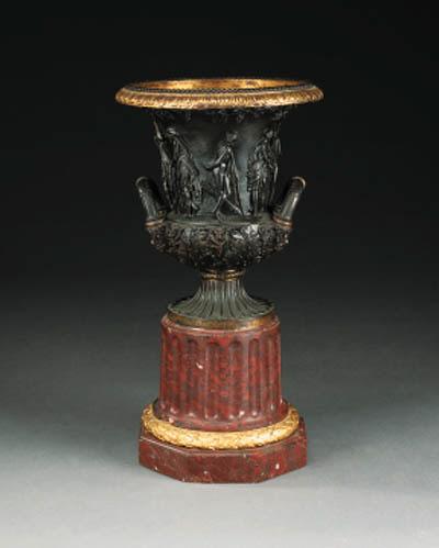 A bronze model of the Medici v