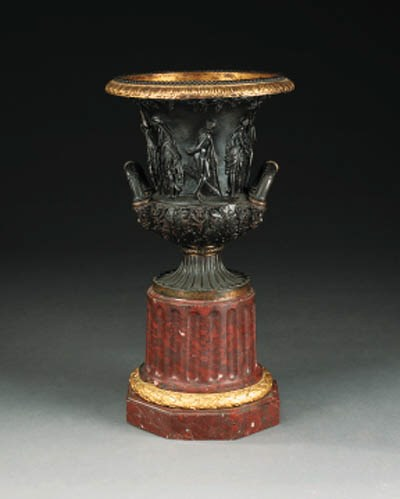 A bronze model of the Medici v