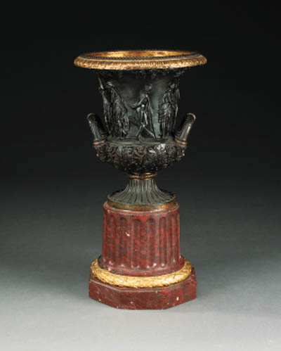 A bronze model of the Medici vase, late 19th century