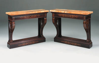 A pair of Charles X rosewood a