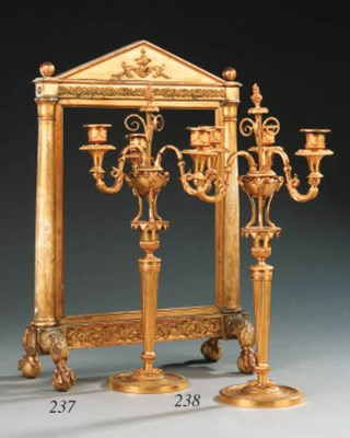A Continental giltwood carved