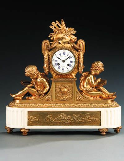 A Louis XVI style gilt bronze