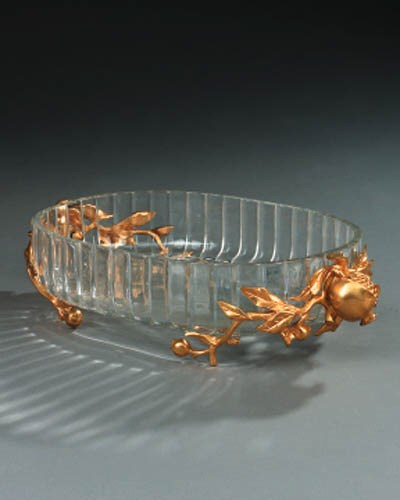 A French bronze mounted glass