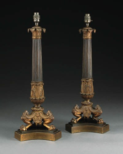 A pair of Restauration gilt an