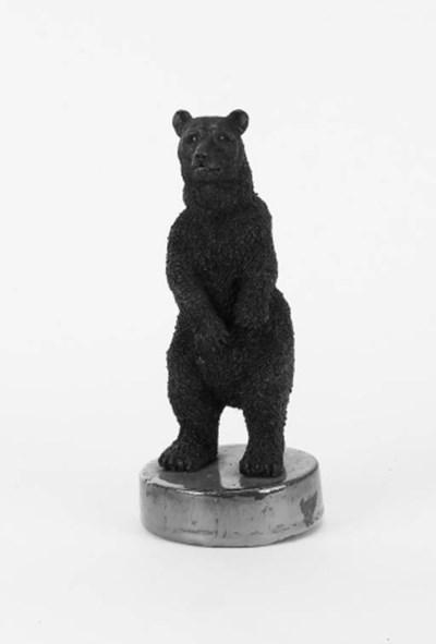 A decorative pottery bear