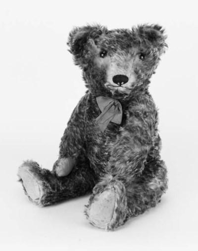 A dual plush covered teddy bea