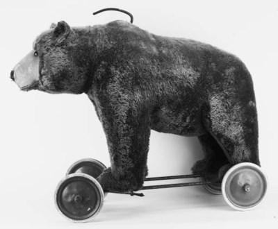 A large Steiff bear 'ride-on'