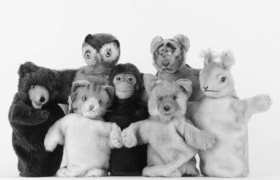 Steiff hand puppets 1950s/1960