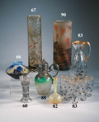 A Gall enamel glass vase