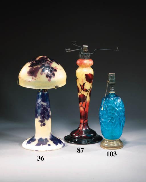 A Daum cameo glass lampbase