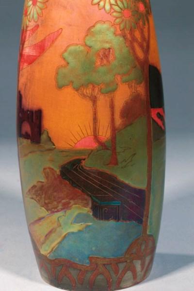 A Zsolnay Pecs pottery vase