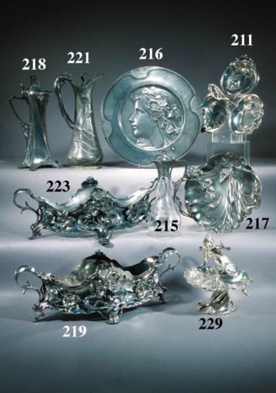 A W.M.F.silvered metal carafe